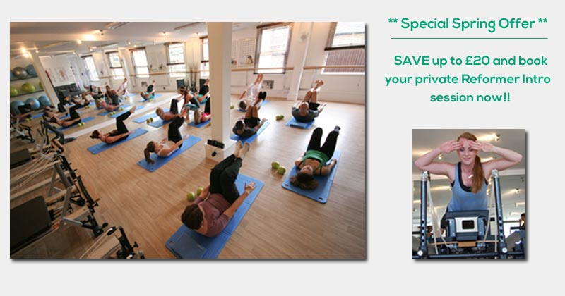 save £20 on your private reformer intro session
